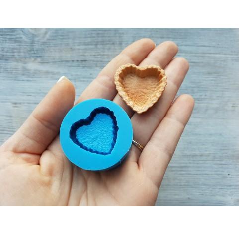 Silicone mold, tartlet heart, ~ 3 cm