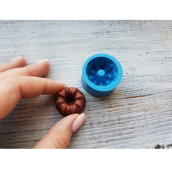 Silicone mold, round cupcake 2, ~ Ø 2.8 cm, ~ H 1.7 cm