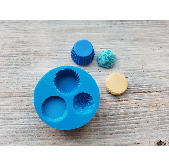 Silicone mold, cupcake, set of cupcake with cream, ~ 1.9-2.3 cm
