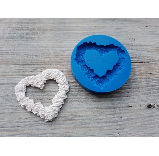 Silicone mold, wreath heart, ~ 5.4*5.1 cm