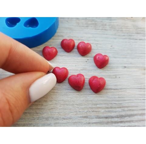 Silicone mold, hearts, 7 pcs., small, ~ Ø 1 cm