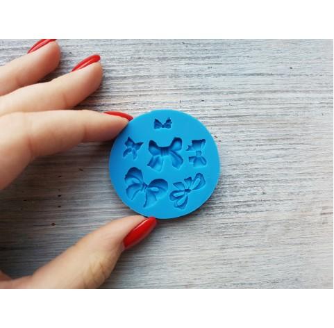 Silicone mold, bows, 6 pcs., ~ 0.6-1.7 cm