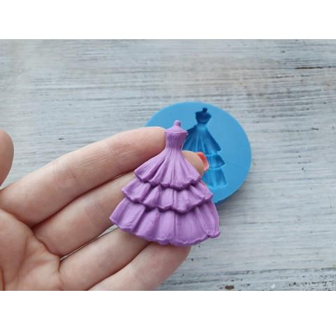Silicone mold, dress, ~ 3.7*4.4 cm