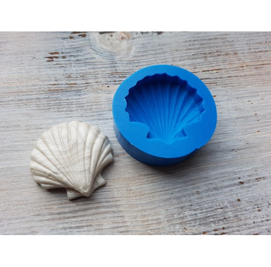 Silicone mold, huge shell, ~ Ø 4.7 cm