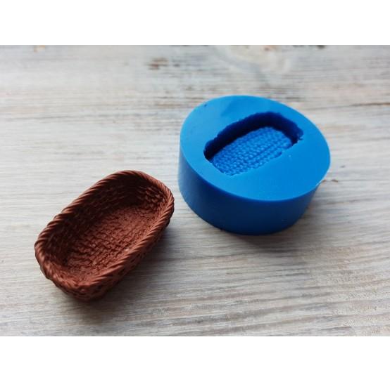 Silicone mold, wicker basket, ~ 2.2*3.5 cm, ~ H 1.2 cm
