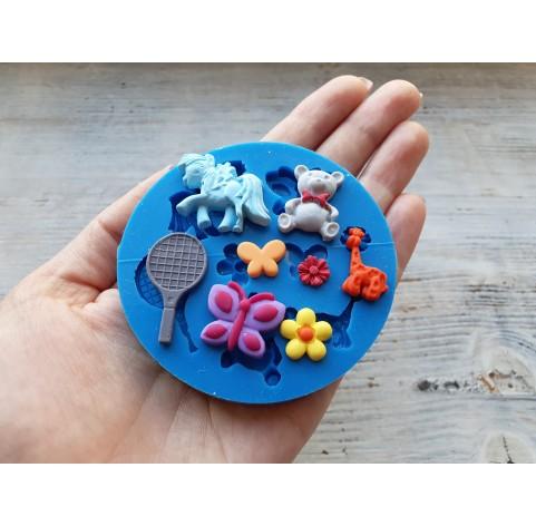 Silicone mold, toy set, 8 pcs., ~ 1.8-3.1 cm
