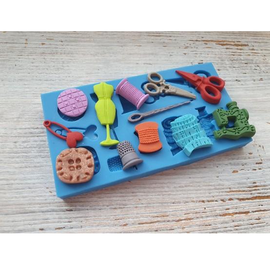 Silicone mold, set for seamstress, 12 pcs., ~ 1.4-3.8 cm