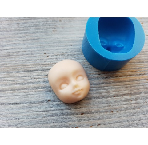 Silicone mold, doll face 3, ~ 2.5*2.8 cm