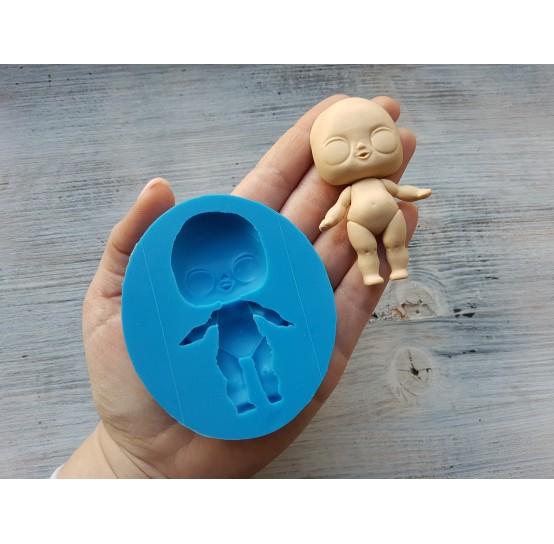 Silicone mold, doll, ~ 7.5 cm