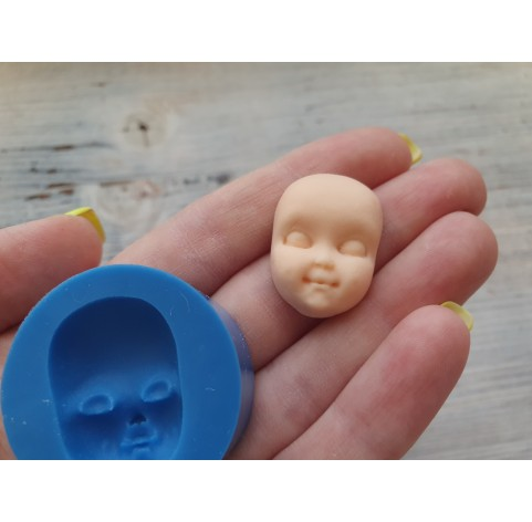Silicone mold, doll face 5, ~ 1.9*2.7 cm