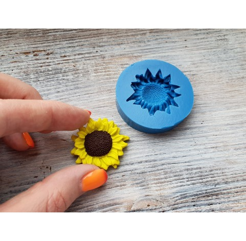 Silicone mold, sunflower, ~ Ø 3.4 cm