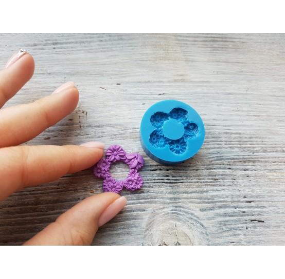 Silicone mold, flower wreath, ~ Ø 2.8 cm