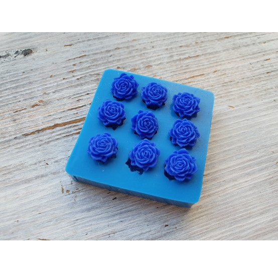 Silicone mold, small flowers, 9 pcs., ~ Ø 1.1 cm