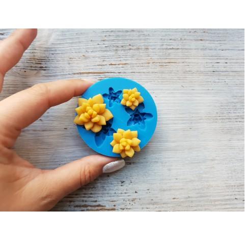 Silicone mold, succulents, 3 pcs., ~ 1.6-2.9 cm