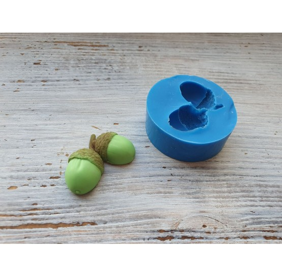 Silicone mold, acorn, 2 pcs., ~ 2.4*3.9 cm