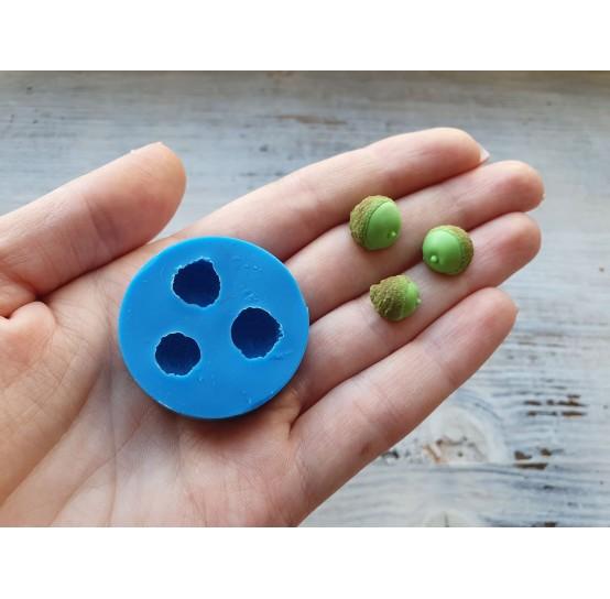 Silicone mold, acorn, 3 pcs., ~ 0.9-1.1 cm