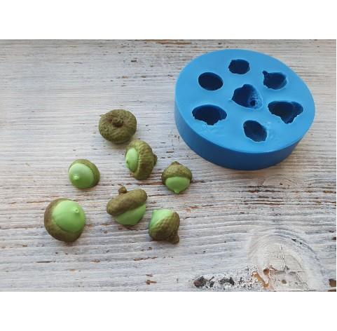 Silicone mold, acorn, 7 pcs., ~ 1.4-2.1 cm