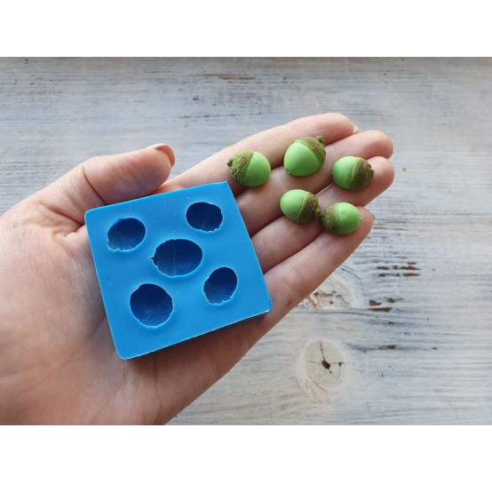 Silicone mold, acorn, 5 pcs., ~ 1.4-1.8 cm