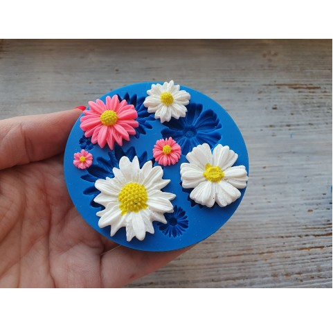Silicone mold, chamomile, daisy flowers, ~ 0.8-3.3 cm