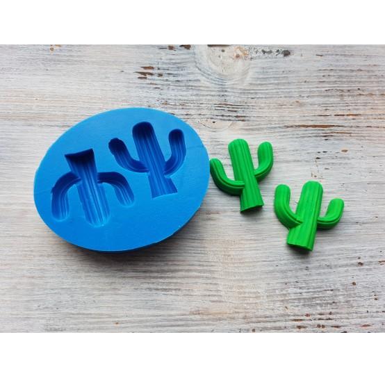 Silicone mold, cactus, 2 pcs., ~ 3.6*4 cm