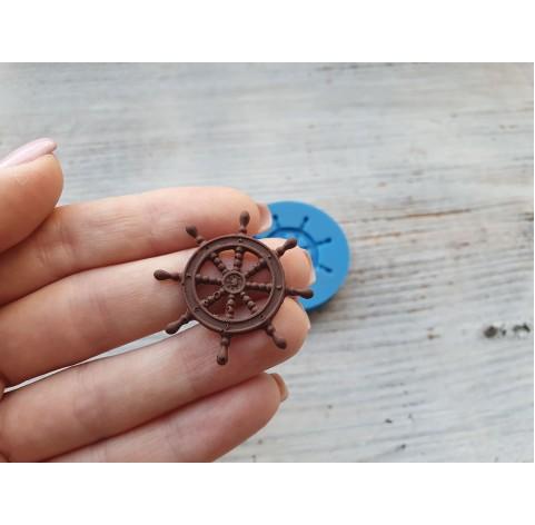 Silicone mold, sea steering wheel, ~ 3.3 cm
