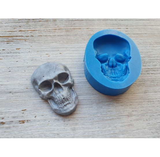 Silicone mold, skull, medium, ~ 2*4.5 cm