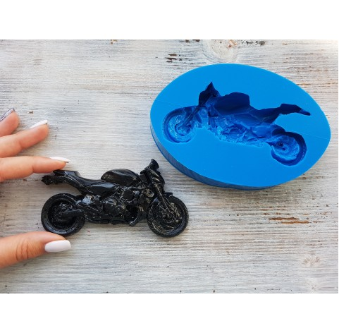 Silicone mold, motorcycle, ~ 6*12 cm