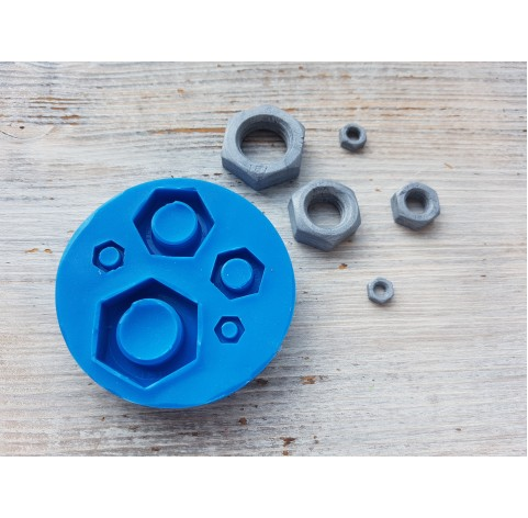 Silicone mold, nuts, 5 pcs., ~ 0.7-2.5 cm
