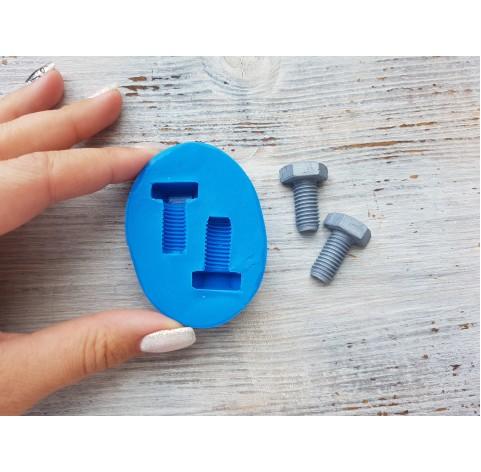 Silicone mold, screws, 2 pcs., 2*2.7 cm