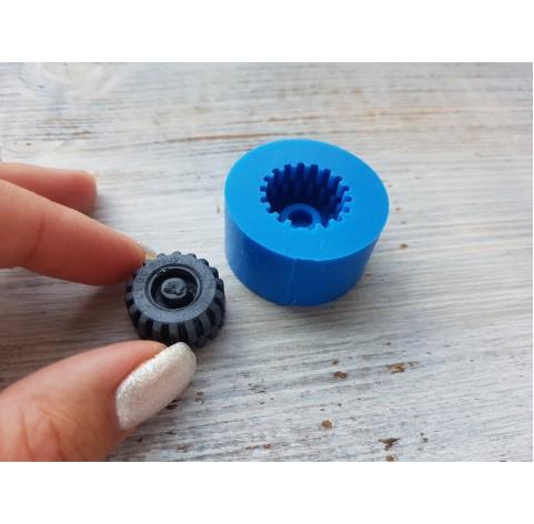 Silicone mold, wheel, ~ Ø 2 cm, ~ H 1 cm