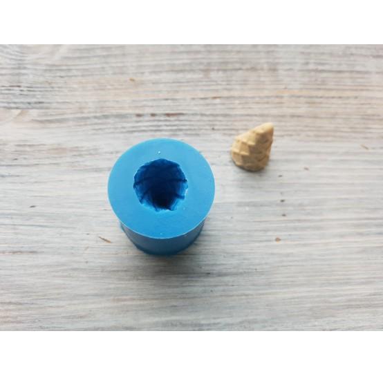 Silicone mold, ice cream cone, ~ Ø 1.5 cm, ~ H 2.2 cm