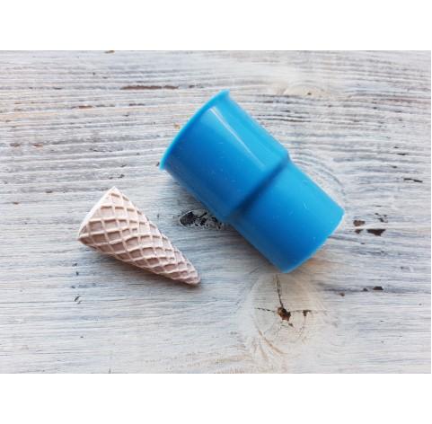Silicone mold, ice cream cone, large, ~ Ø 1.9 cm, ~ H 3.9 cm