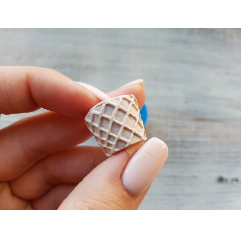 Silicone mold, waffle basket for ice cream 1, ~ Ø 1.9 cm, ~ H 1.6 cm