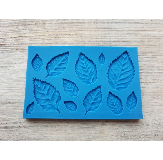 Silicone mold, leaves, 12 pcs., ~ 1.1-3.7 cm