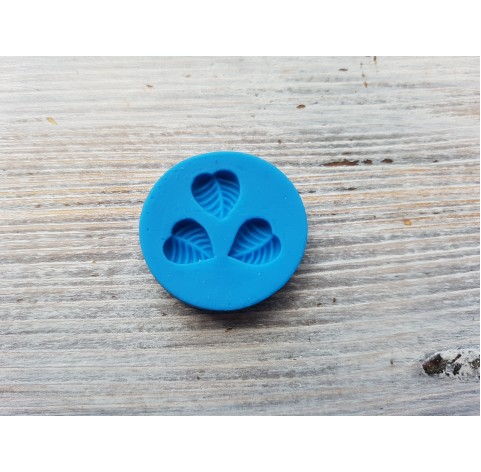 Silicone mold, 3 leaves, ~ 1.1*1.2 cm