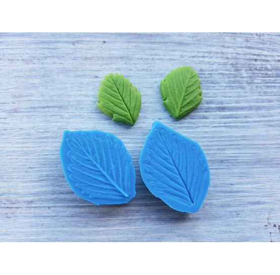 Silicone mold, strawberry leaf, small, (mold size) ~ 2.5*3.6 cm