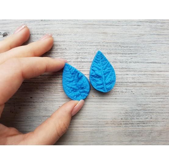 Silicone mold, poinsettia leaf, artificial, (mold size) ~ 2.3*3.9 cm