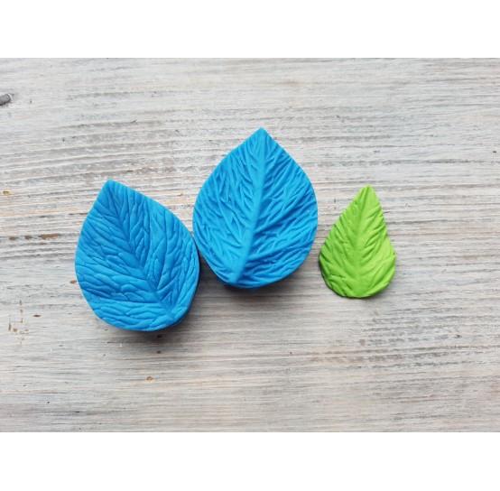 Silicone mold, leaf veiner, (mold size) ~ 3.5*4.6 cm