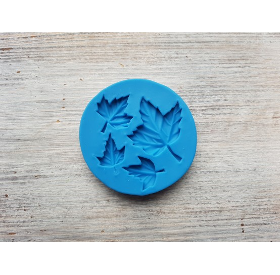 Silicone mold, maple leaves, 4 pcs., ~ 1.7-3.6 cm