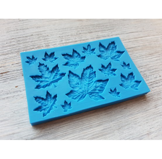 Silicone mold, maple leaves, 12 pcs., ~ 0.9-3.3 cm