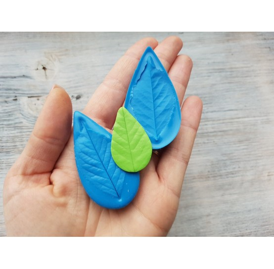 Silicone mold, cherry leaf veiner, (mold size) ~ 3*6 cm
