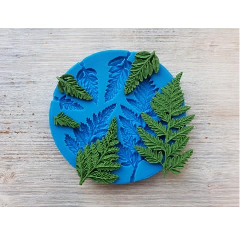 Silicone mold, fern leaves, 5 pcs., ~ 1.1-4 cm, ~ 2-7.5 cm