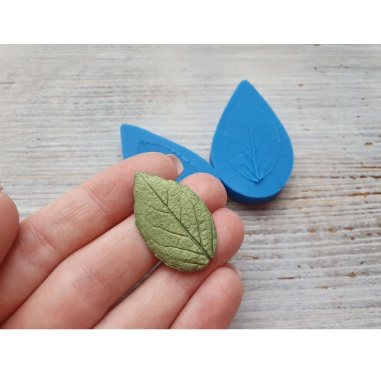 Silicone mold, leaf veiner 2, (mold size) ~ 3*5.1 cm