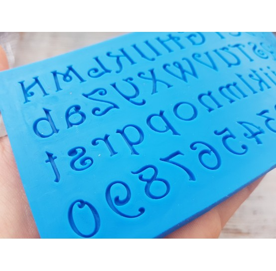 Silicone mold, English alphabet 3, height ~ 0.9-1.5 cm