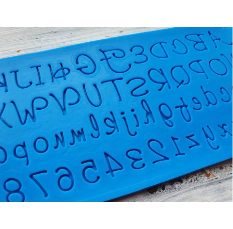 Silicone mold, English alphabet 4, height ~ 1.1-1.3 cm