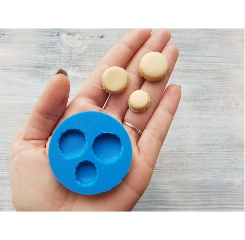 Silicone mold macarons, 3 pcs., ~ Ø 1.5-2 cm