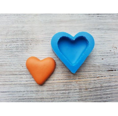 Silicone mold macarons, heart, large, ~ Ø 5 cm