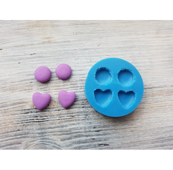 Silicone mold macarons, set, 4 pcs., ~ Ø 1.3 cm