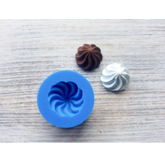 Silicone mold, medium cream, spiral, ~ Ø 2.2 cm