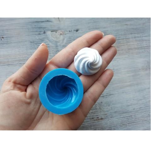 Silicone mold, large cream, ~ Ø 3 cm, ~ H 2.7 cm